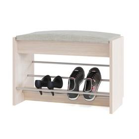 Обувница, 600 × 281 × 438 мм, цвет белёный дуб