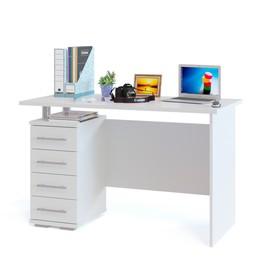 Компьютерный стол, 1200 × 600 × 750 мм, цвет белый