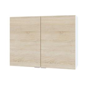 Шкаф с полками, 800 × 300 × 600 мм, цвет белый/дуб сонома