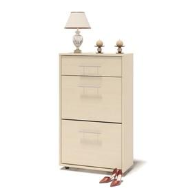 Обувница, 600 × 287 × 1043 мм, цвет белёный дуб