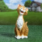 "Садовая фигура ""Забавный рыжий кот"" 13х13х26см"