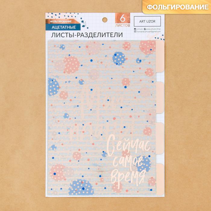 Набор ацетатных разделителей для планера «Мода», 16 × 25 см, 6 листов