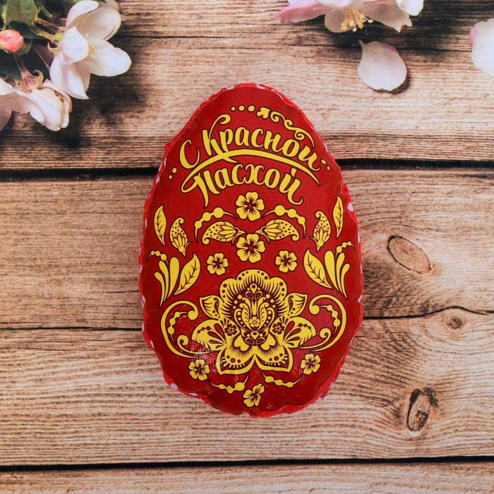 Пасхальный сувенир на магните «С Красной Пасхой» (орнамент), 6 х 8 см