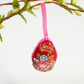Пасхальный сувенир на ленте «С Красной Пасхой» (цветы), 6 х 8 см