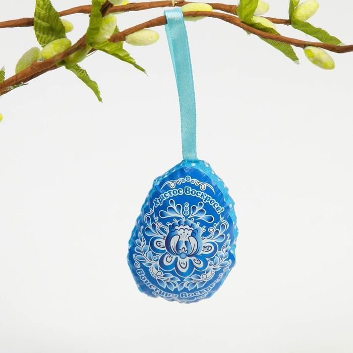 Пасхальный сувенир на ленте «Христос Воскресе», 6 × 8 см