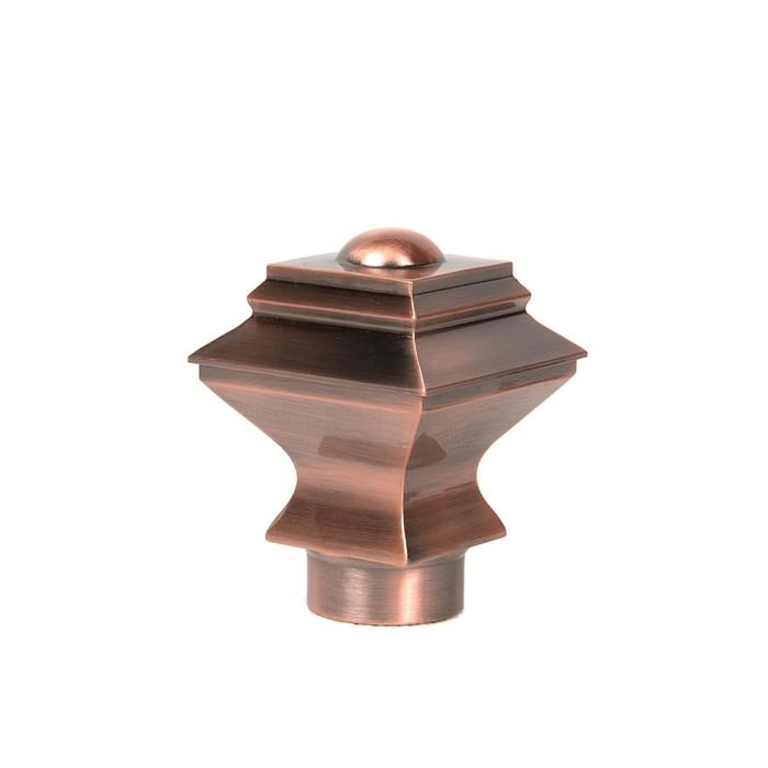 Наконечник «Ладья», 2 шт, d=28 мм, цвет медь
