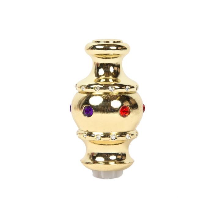 Наконечник «Корона», 2 шт, d=28 мм, цвет золото глянец