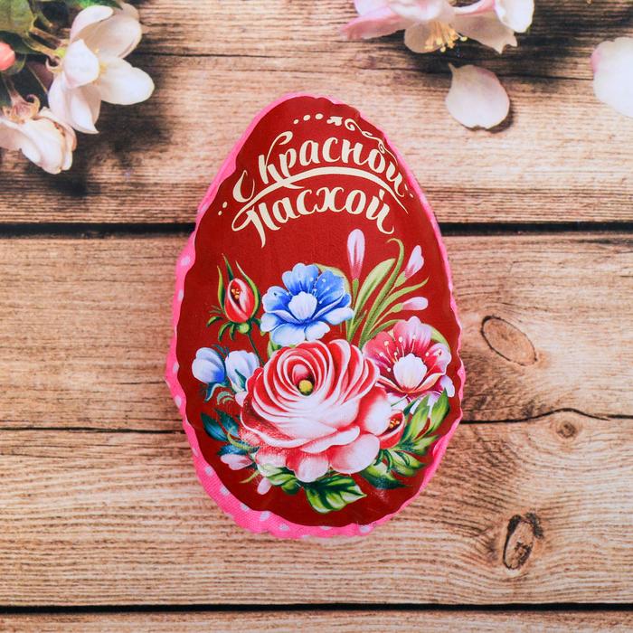 Пасхальный сувенир на магните «С Красной Пасхой» (цветы), 6 × 8 см