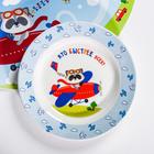 Набор детской посуды «Пилот»: кружка 250 мл, тарелка Ø 17.5 см, салфетка 35 × 22 см - фото 968593
