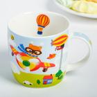 Набор детской посуды «Пилот»: кружка 250 мл, тарелка Ø 17.5 см, салфетка 35 × 22 см - фото 968591