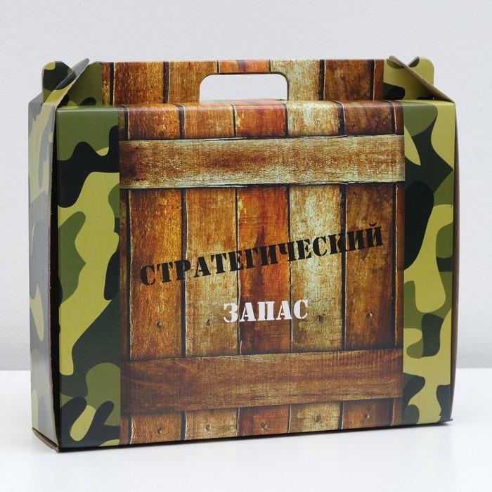 Коробка универсальная с ручкой, полноцвет, 34,5 х 8 х 27 см - фото 147974642