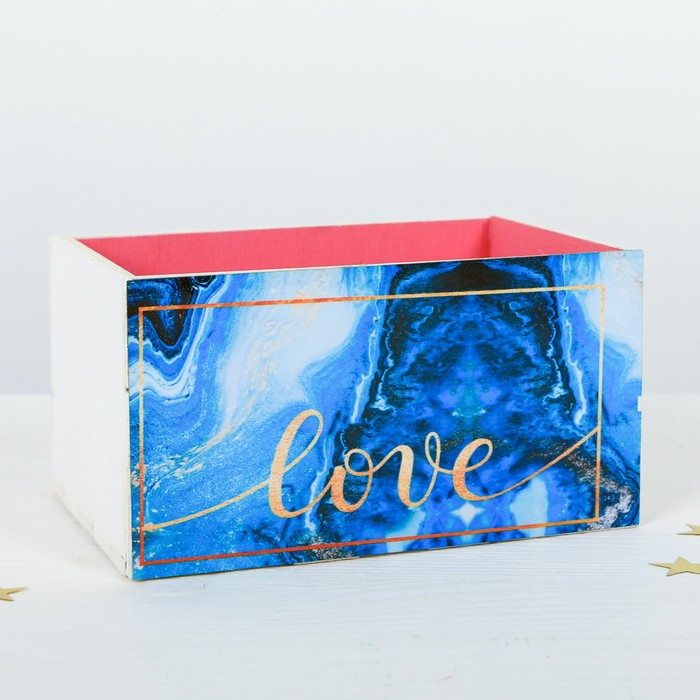 """Органайзер для канцелярии """"Love"""" 150 х 100 х 80 мм - фото 366929535"""