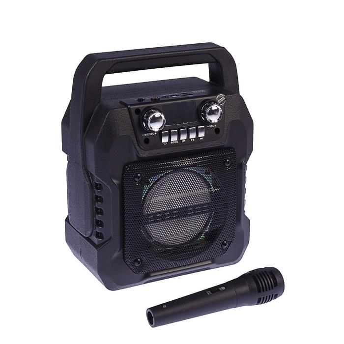 Портативная караоке система MAX MR-371, 9 Вт, FM, AUX, micro SD, USB, BT, Li-Ion 1200 мАч