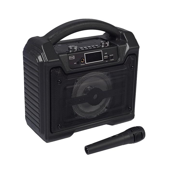 Портативная караоке система MAX MR-372, 15 Вт, FM, AUX, micro SD, USB, BT, Li-Ion 1500 мАч