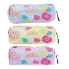 School pencil case, zipper, Fruit, MIXED