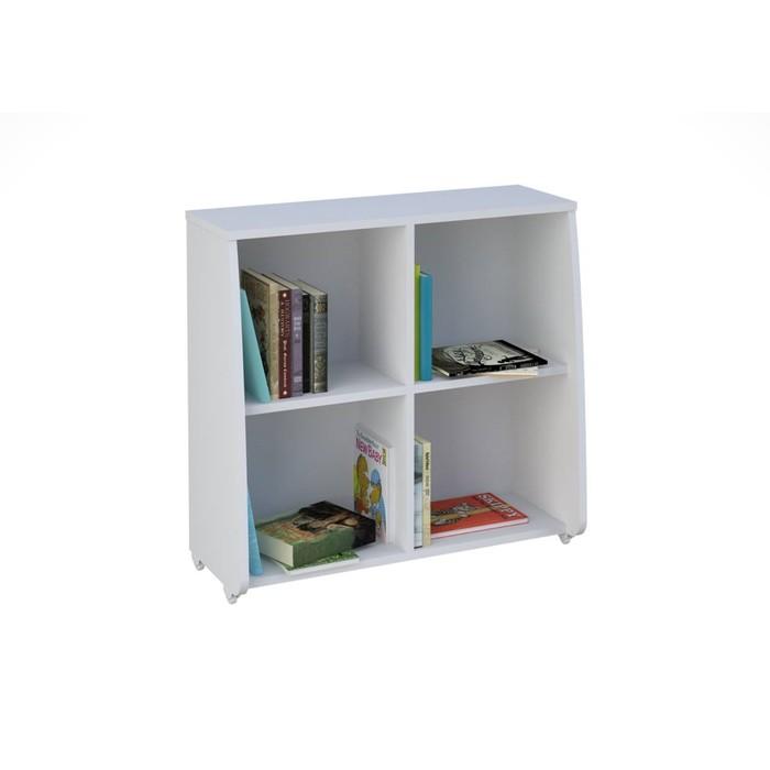 Стеллаж для кровати-чердака с выдвижными элементами Polini kids Simple, цвет белый