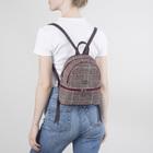 Рюкзак-сумка, 2 отдела на молниях, наружный карман, цвет бордовый