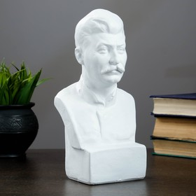 Бюст Сталина, белый 12х24см