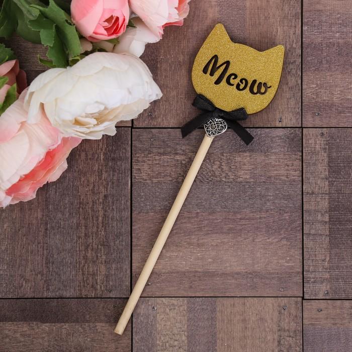 Декоративный штекер «Meow», 7 × 14 см