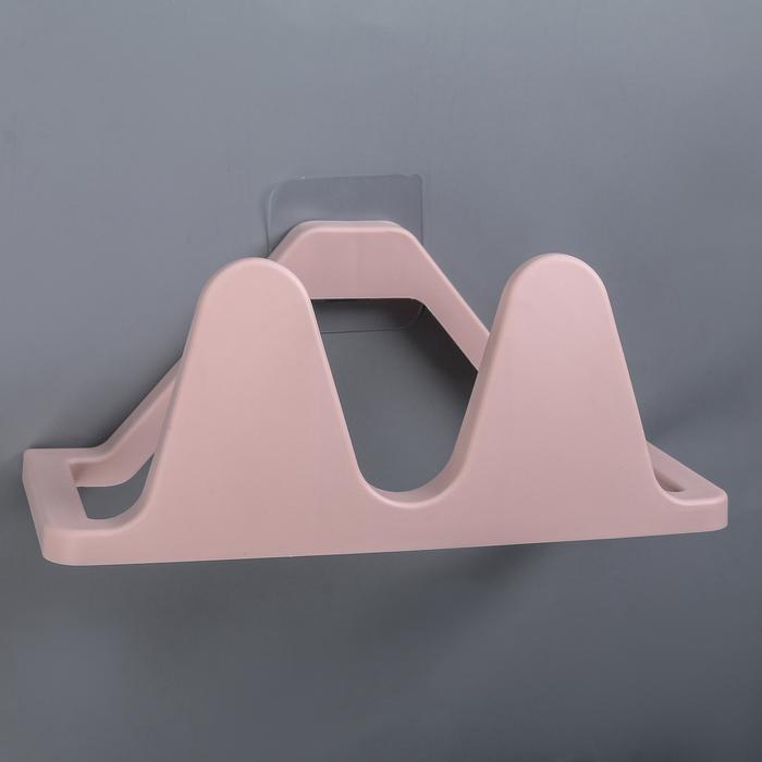 Подставка для обуви настенная 24х11,5х10 см цвет розовый