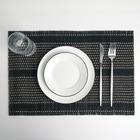 "Салфетка кухонная 45х30 см ""Узел"", цвет черный"