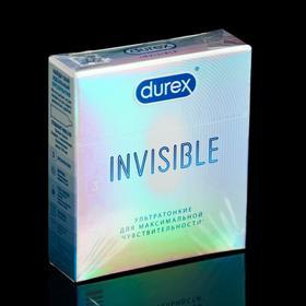 Презервативы Durex Invisible ультратонкие, 3 шт