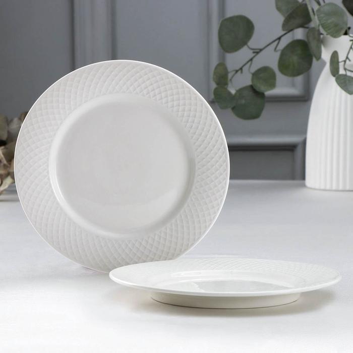 Набор тарелок десертных «Юлия Высоцкая», d=20 см, 2 шт, цвет белый - фото 706450