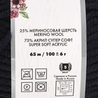 """Пряжа """"Lana Grace Grande"""" 25% шерсть мериноса, 75% акрил 65м/100гр (0107 т. синий) - фото 7308522"""
