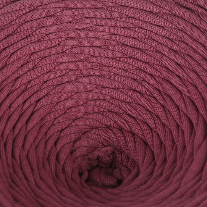 Пряжа трикотажная лицевая 100м/350гр, ширина нити 7-8 мм (Сухая роза)