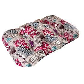 Матрас для собак средних пород Филин красный, ткань канвас, 134 х 70 х 20 см