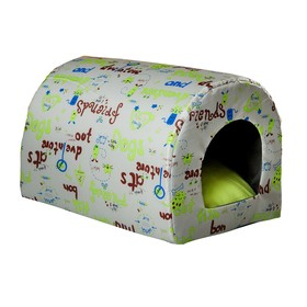 Домик-тоннель Собаки, ткань оксфорд, 35 х 26 х 26