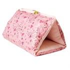 Домик-тоннель-лежанка Сердечки,  46х28х28 см, в разложенном виде 80х46 см, розовый