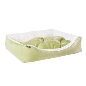 "Лежанка ""Пухлик"" Фисташка, мебельная ткань, 90 х 60 х 20 см"