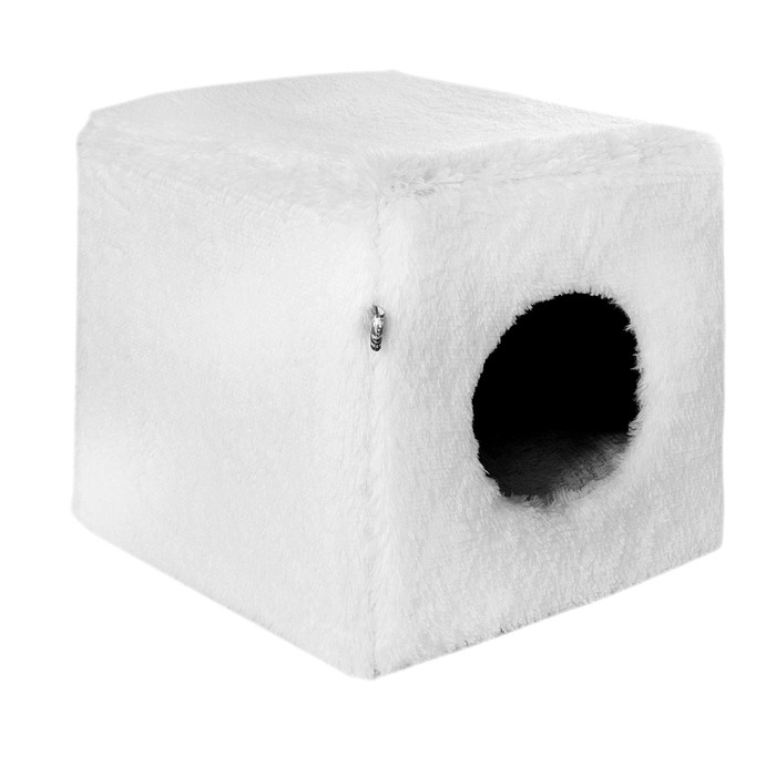 Дом-трансформер Пломбир, эко-мех, 42 х 42 х 42 см, белый - фото 187557
