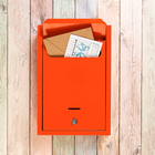 Ящик почтовый «Альфа Люкс», с замком, оранжевый