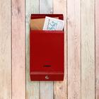Ящик почтовый «Почта», с замком, красный