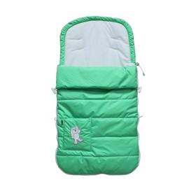 Конверт демисезонный в коляску «Зайчик», цвет зелёный