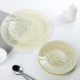 Набор тарелок «Восток», 7 предметов, цвет шампань