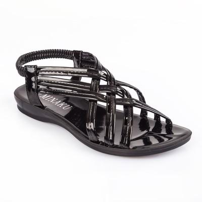 Сандалии женские MINAKU, черный лак, размер 39