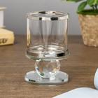 "Подсвечник стекло на 1 свечу ""Стаканчик на кристалле"" прозрачный 11х7х7 см - фото 282122562"