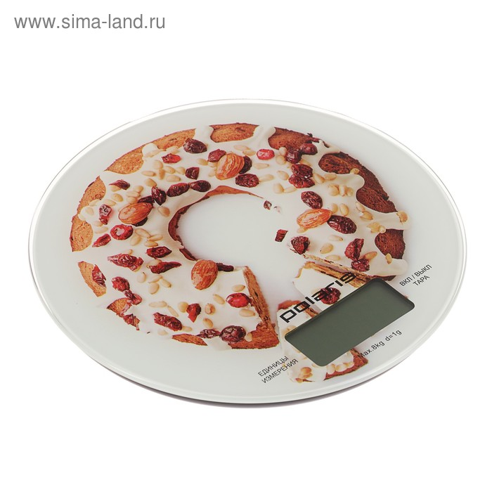 Весы кухонные Polaris PKS 0855DG электронные, рисунок