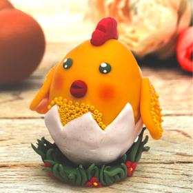 Набор для творчества. Декор яиц полимерной глиной «Цыпленок в скорлупе»