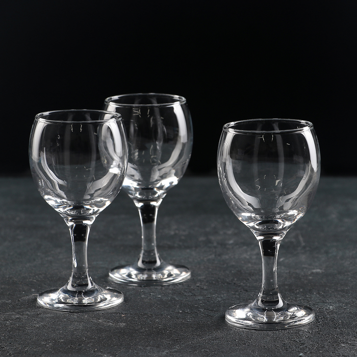 Набор фужеров для белого вина 175 мл Bistro, 3 шт - фото 308063334