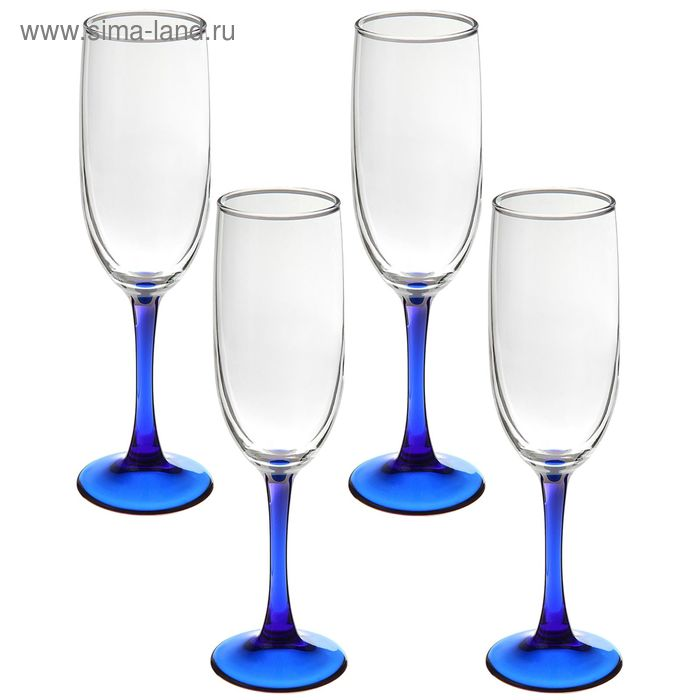 Набор фужеров для шампанского 155 мл Imperial Blue, 4 шт