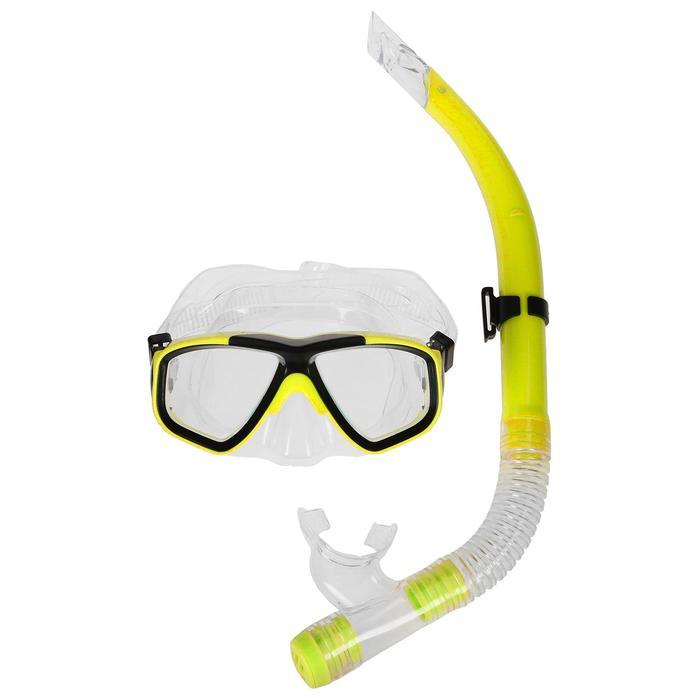 Набор для плавания, 2 предмета: маска и трубка, МИКС