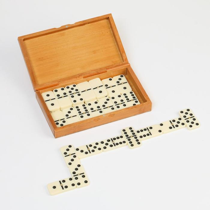 """Домино """"Обыкновенное"""", в деревянной коробке"""