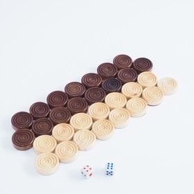 Шашки деревянные d=2.3 см, микс