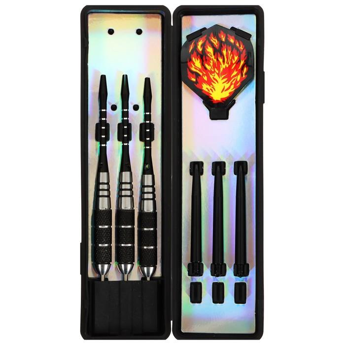 Стрелы для дартса с медным наконечником 20 гр, набор 3 шт., цвет микс