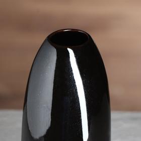 """Ваза настольная """"Лицо"""", глянец, чёрная, 28 см, 1 сорт - фото 7341327"""