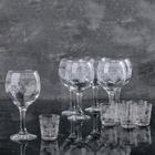 Набор «Барокко», 12 предметов: бокал 290 мл 6 шт, стопки 50 мл 6 шт